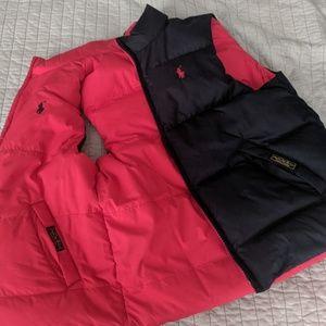 Boys Polo Ralph Lauren Reversible Puffer Vest $50